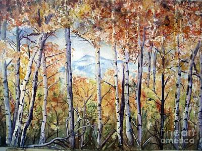Wyoming Painting - Tetons In Autumn by Patricia Pushaw