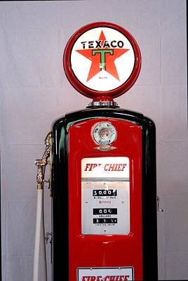 Texaco Gas Pump Art Print by David Campione