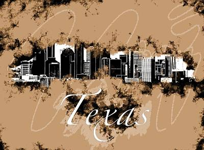 Mixed Media - Texas  by Lisa Stanley