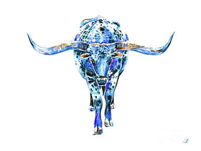Painting - Texas Longhorn by Zaira Dzhaubaeva