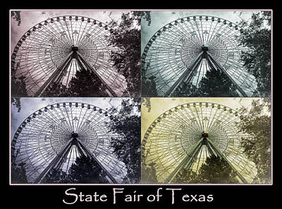 The Circle Game Photograph - Texas Star Poster by Joan Carroll