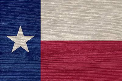 Texas State Flag Art Print