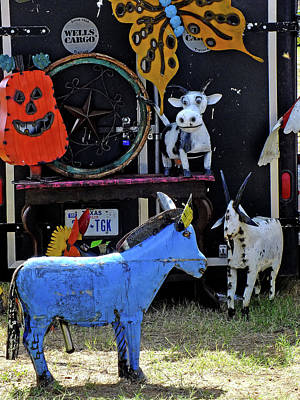 Texas Yard Art Art Print