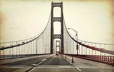 Photograph - Textured Mackinac Bridge by Dan Sproul