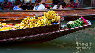 Photograph - The Offering- Thailand's Floating Market by Rene Triay Photography