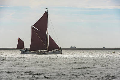 Photograph - Thames Sailing Barge Reminder by Gary Eason