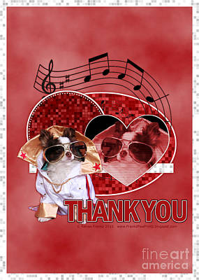 Canines Digital Art - Thank You - Thank You Very Much by Renae Laughner