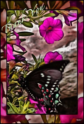 Thank You Card Art Print by Debra     Vatalaro