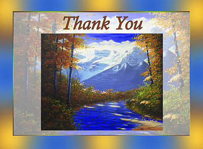 Painting - Thank You by Saeed Hojjati