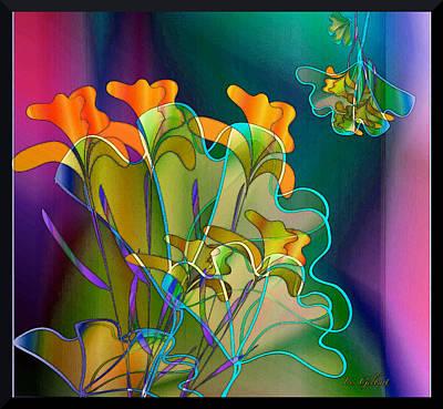 Digital Art - Thanksgiving Bouquet by Iris Gelbart