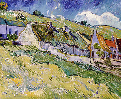 Painting - Thatched Houses by Vincent van Gogh
