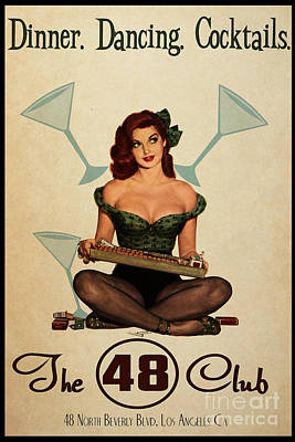 Burlesque Painting - The 48 Club by Cinema Photography