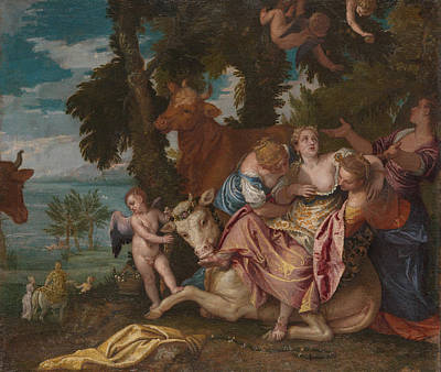 Bucking Bull Painting - The Abduction Of Europa by Paolo Veronese