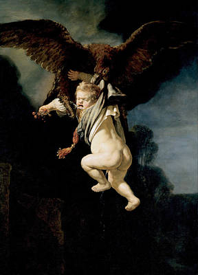 Dutch Painting - The Abduction Of Ganymede by Rembrandt van Rijn