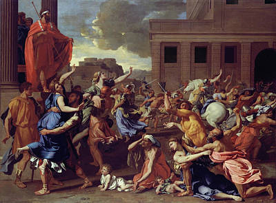 Classic Painting - The Abduction Of The Sabine Women by Nicolas Poussin