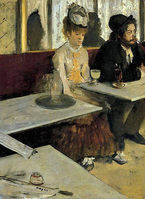 Mirror Painting - The Absinthe by Edgar Degas