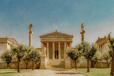 Photograph - Athens, Greece - The Academy by Mark Forte