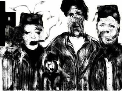 Digital Art - The Actors by Rc Rcd