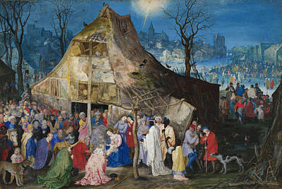 Xmas Painting - The Adoration Of The Kings by Jan Brueghel the Elder
