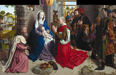 Painting - The Adoration Of The Kings. Monforte Altar by Hugo van der Goes