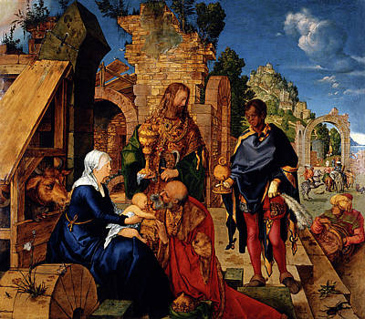 Painting - The Adoration Of The Magi  by Albrecht Durer