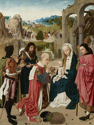 Black Gospel Painting - The Adoration Of The Magi by Geertgen tot Sint Jans