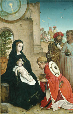 Painting - The Adoration Of The Magi by Juan De Flandes