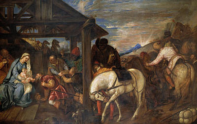 Nativity Painting - The Adoration Of The Magi by Titian