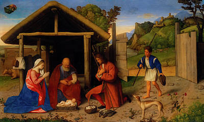 Painting - The Adoration Of The Shepherds by Catena