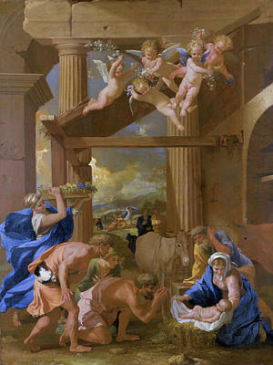 Shepherd Painting - The Adoration Of The Shepherds by Nicolas Poussin