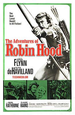 Photograph - The Adventures Of Robin Hood - Errol Flynn by Doc Braham