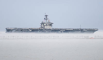 Us Marines Photograph - The Aircraft Carrier Uss Theodore Roosevelt by Celestial Images