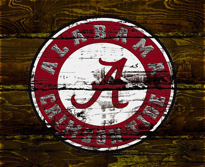 Clemson Mixed Media - The Alabama Crimson Tide by Brian Reaves