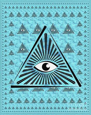 Painting - The All-seeing Eye by Pierre Blanchard