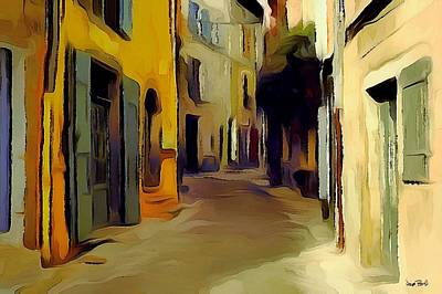 Painting - The Alley by Wayne Pascall