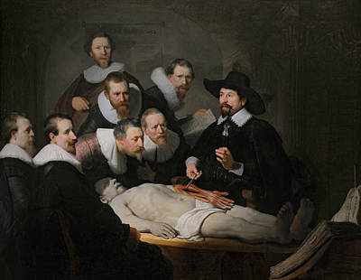The Anatomy Lesson Of Dr. Nicolaes Tulp Art Print by Rembrandt