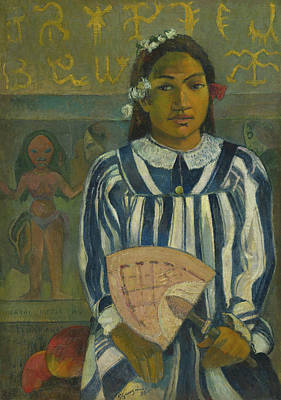 Sit-ins Painting - The Ancestors Of Tehamana by Paul Gauguin