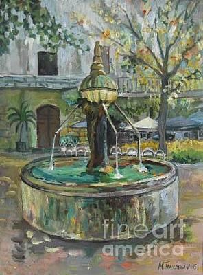 The Ancient Fountain In Provence Original by Milena Toncheva