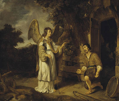 Painting - The Angel And Gideon by Gerbrand van den Eeckhout
