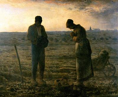 Painting - The Angelus by Jean Francois Millet