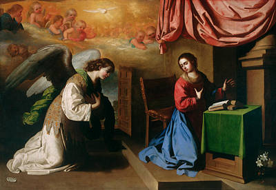 Painting - The Annunciation by Francisco de Zurbaran