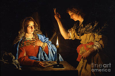 The Annunciation Art Print by Celestial Images