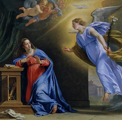 Saint Gabriel Painting - The Annunciation by Philippe de Champaigne