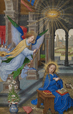 Painting - The Annunciation by Simon Bening
