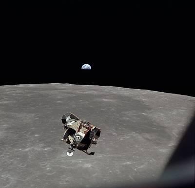 Space Travel Photograph - The Apollo 11 Lunar Module Ascending by Everett