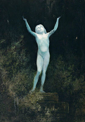 Painting - The Appearance Or A Sidereal Body by Karl Wilhelm Diefenbach