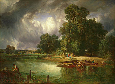 Approaching Storm Painting - The Approaching Storm by Constant Troyon