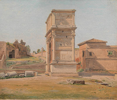 The Arch Of Titus In Rome Art Print by Constantin Hansen