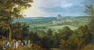 Hunting Painting - The Archdukes Hunting by Jan Brueghel the Elder