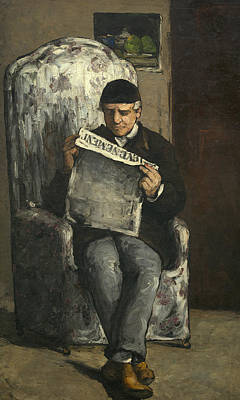 Painting - The Artist's Father by Paul Cezanne